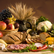 Big collection with food, fruits and vegetables...