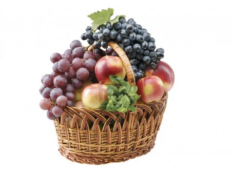 Fruit food objects in a basket