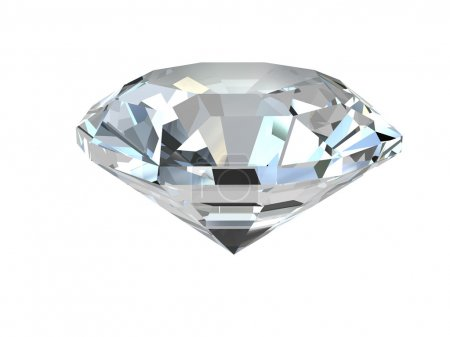 Photo for Diamond isolated on white background. High resolution 3D render - Royalty Free Image