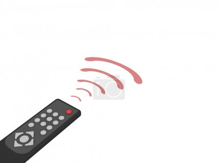 Photo pour Télécommande universelle avec des rayons rouges sur fond blanc. image 3d en haute résolution - image libre de droit