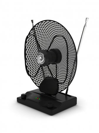 Portable television and radio antenna