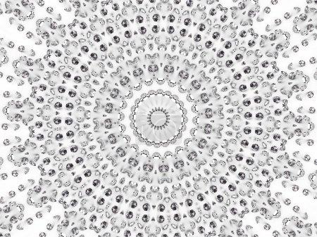 Photo pour Mosaïque circulaire de diamants différents. image 3d abstrait de haute résolution - image libre de droit