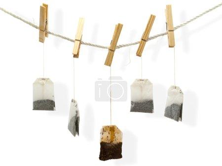 Drying tea bags