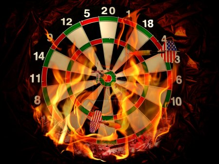 Darts in flame