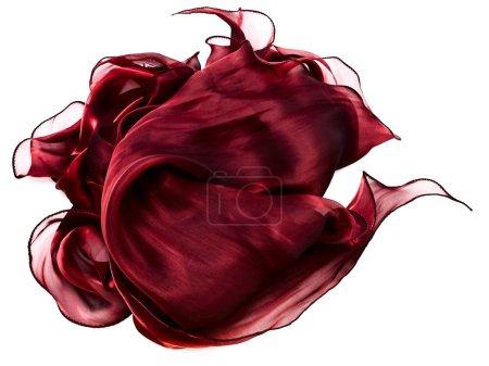 Photo pour Tissu abstrait rouge décoratif sur fond blanc - image libre de droit