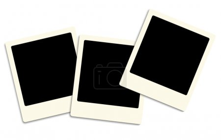 Photo for Three old style photo frames over white background - Royalty Free Image
