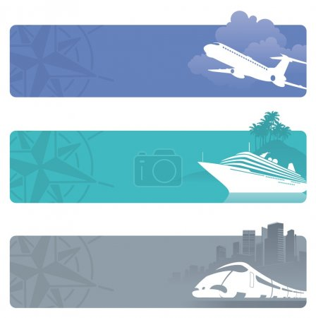 Vector travel banners