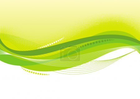 Illustration for Abstract vector green background. - Royalty Free Image