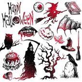Halloween & horror hand drawn vector set