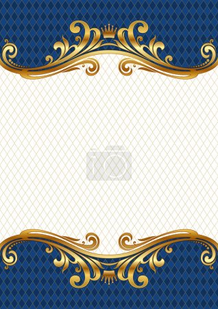 Illustration for Vector ornate golden frame. - Royalty Free Image