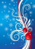 Sfondo blu con giocattoli di Natale