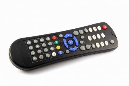 Photo pour Télécommande pour récepteur sat sur blanc - image libre de droit