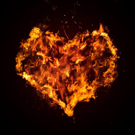 Abstract fiery heart