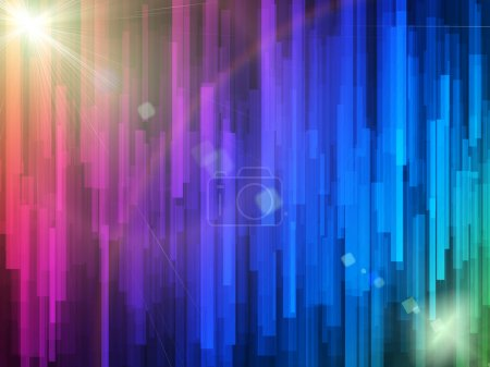 Photo for Abstract glowing lines on a colorful background - Royalty Free Image