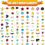 Vector logo & design elements, 100 pieces for your site