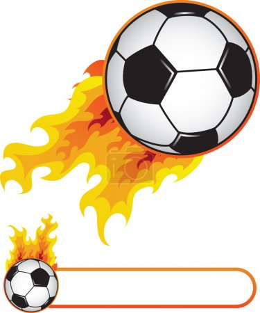 Soccer ball in flame
