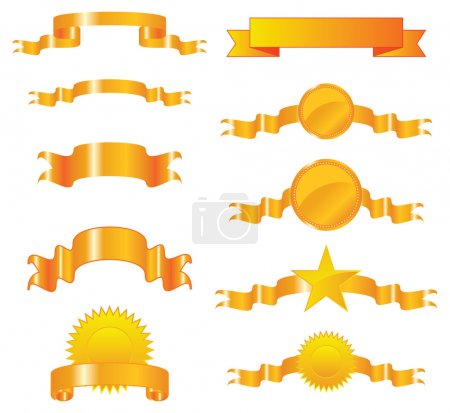 Collection of gold ribbons