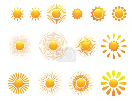 Illustration for Set of sun. Vector. - Royalty Free Image