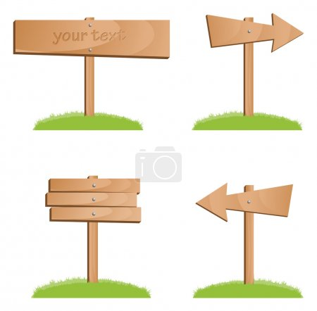 Illustration for Vector wooden signs - Royalty Free Image