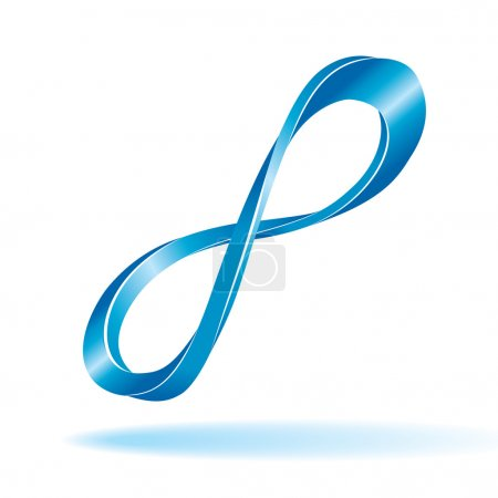 Blue infinity sign