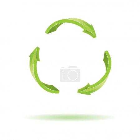 3D Arrows. Recycle symbol. Vector colorful illustr...