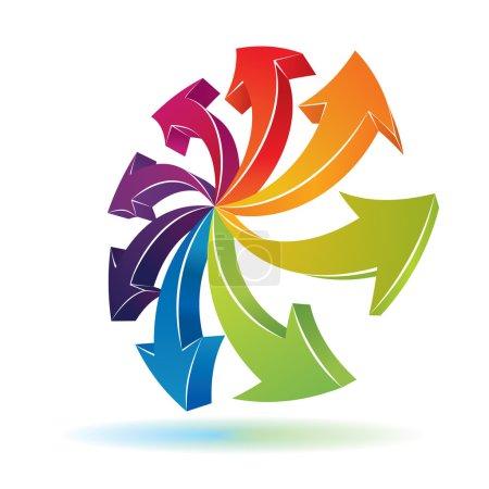 3d arrows symbol for your artwork or presentation....