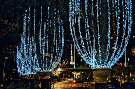 Photo pour Streat de Roppongi à Tokyo (vue de nuit) - image libre de droit