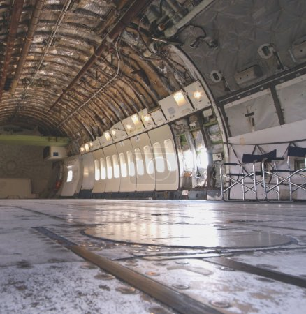Cargo area of a big airplane
