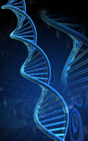 Photo for Digital illustration of dna in colour background - Royalty Free Image
