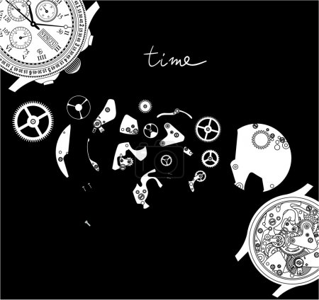 Time. Watch mechanism.