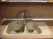 Granite sink with mixer