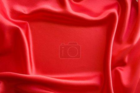 Photo pour Cadre sur satin rouge - image libre de droit