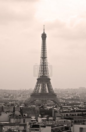 Photo pour Photo vintage de la tour Eiffel à Paris, France - image libre de droit
