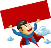 Superhero lifts Sign