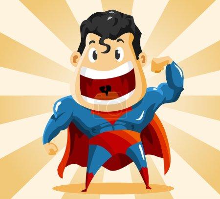 Illustration pour Super héros fort. Illustration vectorielle détaillée . - image libre de droit