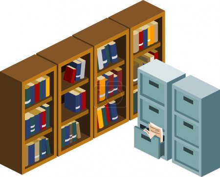 Locker and Bookshelf