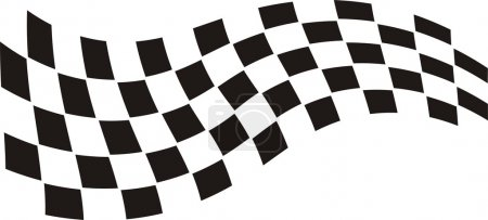 Illustration of racing flag on white...