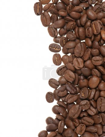 Heap of grains of coffee