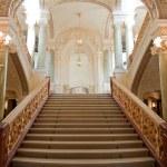 Stairway. An interior of opera theatre. Odessa, Ukraine