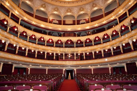 Photo for Auditorium. An interior of opera theatre. Odessa, Ukraine - Royalty Free Image