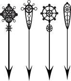 A vector illustrated set of 4 decorative arrows
