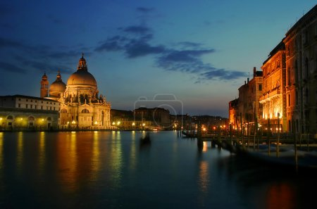 Venetian Grand Canal at evening.