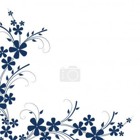 Illustration for Abstract floral illustration - Royalty Free Image