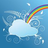Design s oblak a rainbow