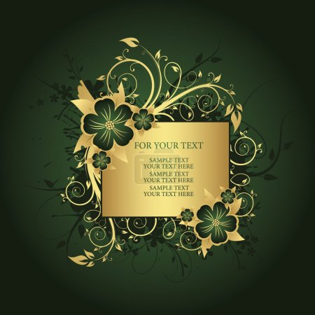 Illustration for Golden frame for text - Royalty Free Image