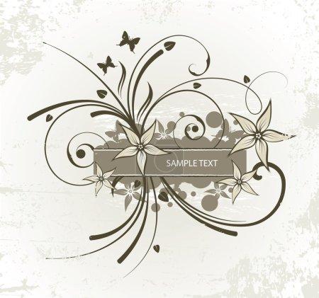 Illustration for Old floral frame for text - Royalty Free Image