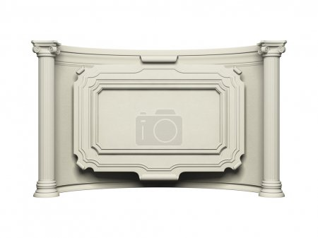 Photo for Architecture frame wall with column isolated on white - Royalty Free Image