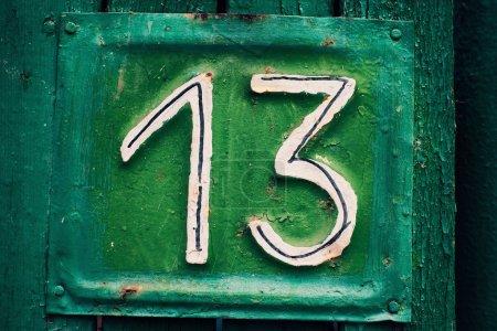 House plate number thirteen