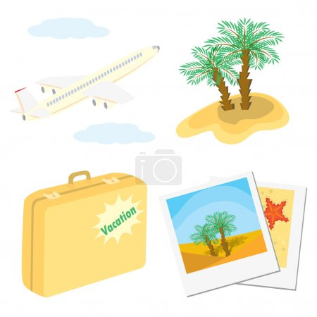 Set of color vacation icons