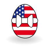 Abstract egg with USA flag